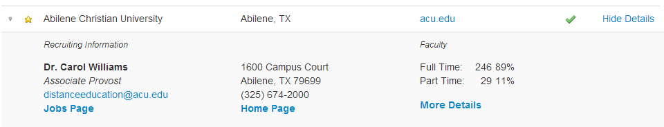 School Directory Detail
